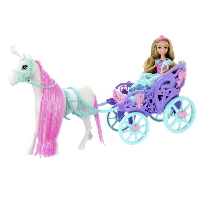 Sparkle princesse avec cheval et carrosse pas cher achat vente poup es rueducommerce - Princesse cheval ...