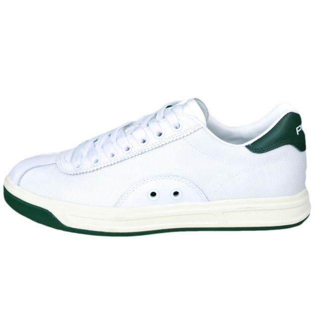 Ralph Lauren - Baskets blanche et verte pour homme - pas cher Achat   Vente Baskets  homme - RueDuCommerce c4d38651d60