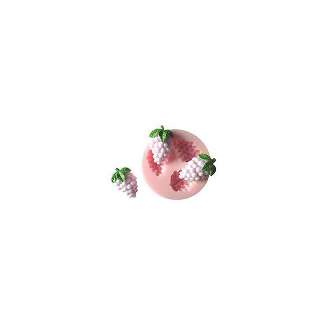 Alpexe Moule de Cuisson Grappe De Raison 3D Pour Gâteau Pour Cookie Pour Tarte Silikon Ecologique