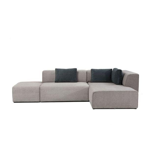 Karedesign Canapé d angle Infinity Soft droite gris Kare Design