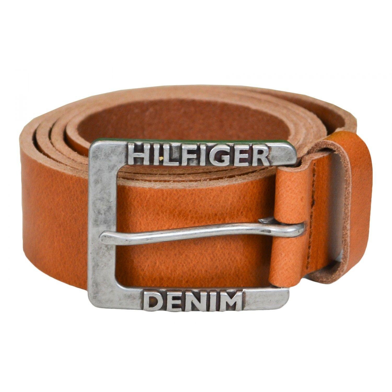 HILFIGER- Ceinture Tommy Dénim Original marron cognac pour homme 1e4ed71dd87