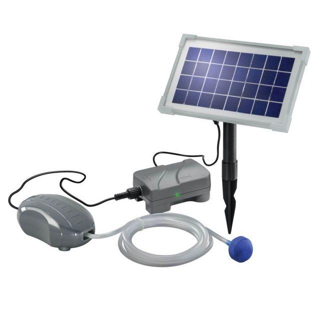 Esotec - Aérateur bulleur bassin solaire avec batterie Air Plus ...