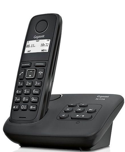 gigaset t l phone fixe sans fil avec r pondeur al117as solo noir pas cher achat vente. Black Bedroom Furniture Sets. Home Design Ideas