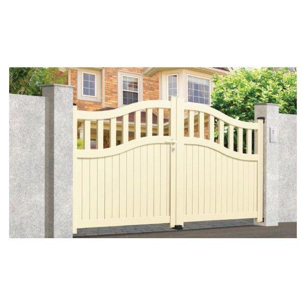 sonnier bois panneaux menuiserie portail aluminium canebiers longueur 3 5m pas cher. Black Bedroom Furniture Sets. Home Design Ideas