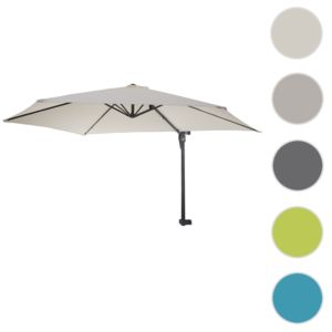 mendler parasol de mur casoria parasol d port pour balcon ou terrasse 3m inclinable cr me. Black Bedroom Furniture Sets. Home Design Ideas