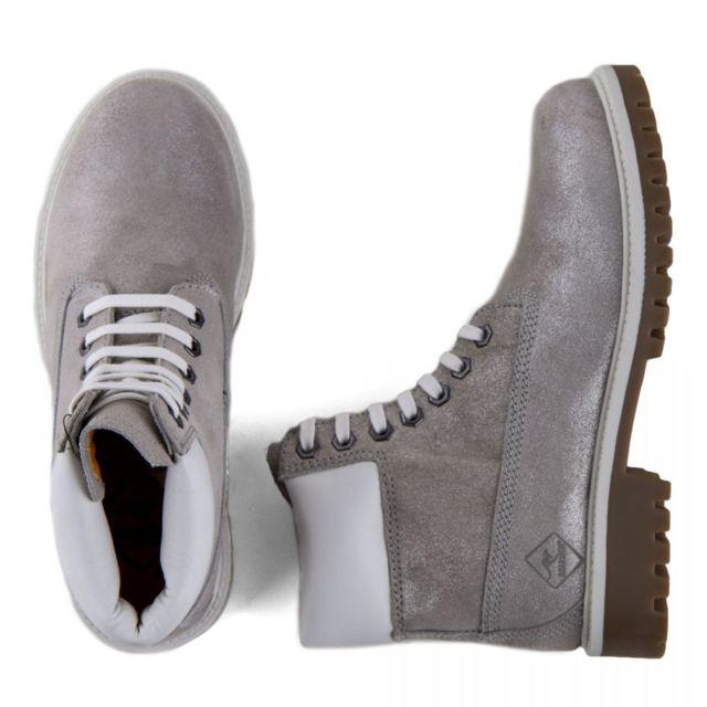 Roadsign Boots cuir grises Rodea Femme