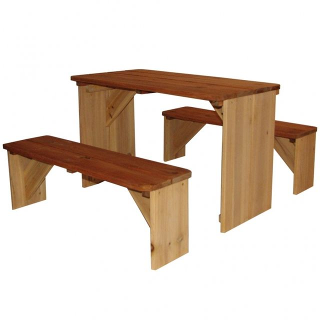 Casasmart Table de pique-nique pour enfants en bois Iro