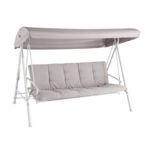 Carrefour balancelle lit 3 places ivoire pas cher - Balancelle convertible en lit de jardin ...