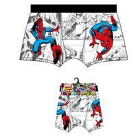 Marvel Comics - Marvel Boxer Homme Coton Spiderman Héros Blanc