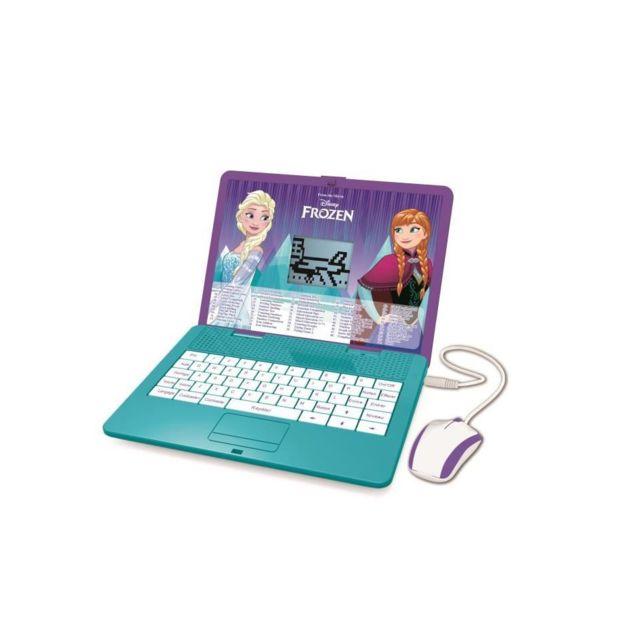 Lexibook La Reine des Neiges - Ordinateur portable éducatif bilingue EN/FR, pour enfant avec 120 activités