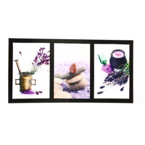 atmosphera 3 toiles imprim es d co lavande l 60 cm pots pas cher achat vente tableaux. Black Bedroom Furniture Sets. Home Design Ideas