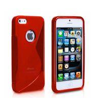 Lapinette - Coque Gel Vague S Pour Apple Iphone Se - Rouge