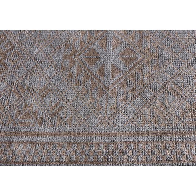 angelo tapis vintage en laine et bambou nou main gris anthracite et caf legacy pas cher. Black Bedroom Furniture Sets. Home Design Ideas