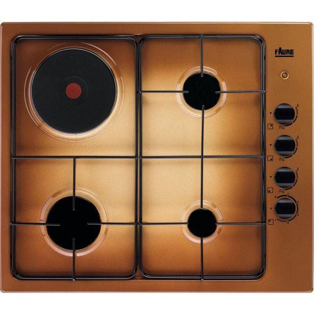 faure table de cuisson mixte gaz et lectrique 60cm 4 feux. Black Bedroom Furniture Sets. Home Design Ideas