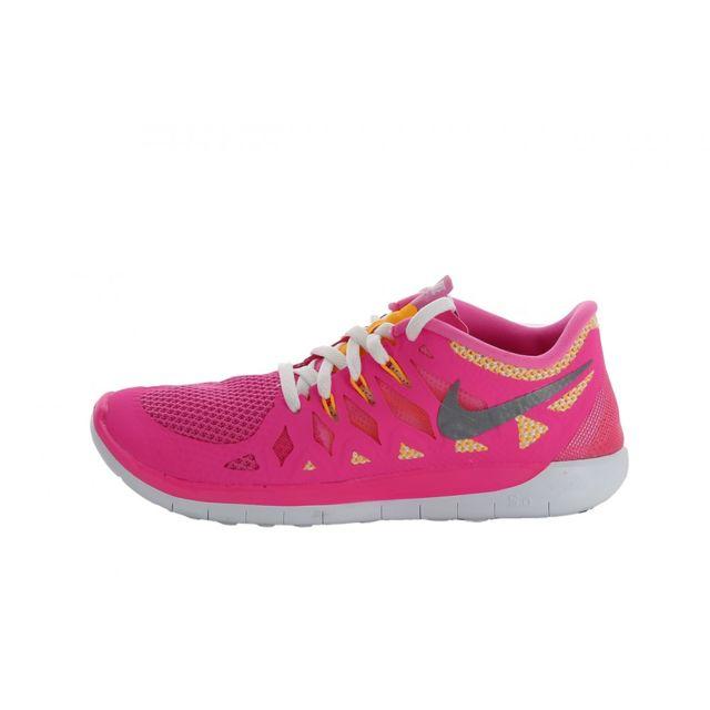 new product 738cd b4d62 Nike - Basket Free 5.0 GS 644446-600 - pas cher Achat   Vente Baskets  enfant - RueDuCommerce