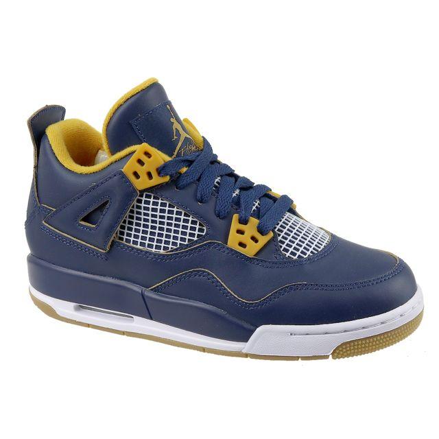 size 40 acc5e 5713f Jordan - 4 Retro Bg 408452-425 Bleu - pas cher Achat   Vente Baskets enfant  - RueDuCommerce