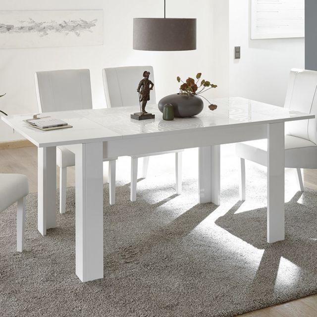 Kasalinea Table Extensible 180 Cm Blanc Laque Design Nerina