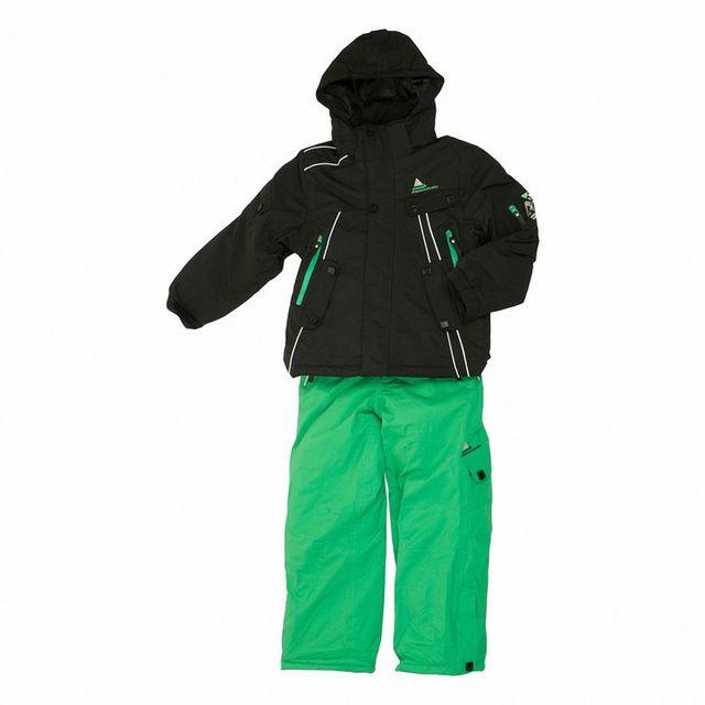 7dc051090445 Peak Mountain - Ensemble de ski homme Ecluza Noir - 10 ans - pas cher Achat    Vente Blouson de ski - RueDuCommerce