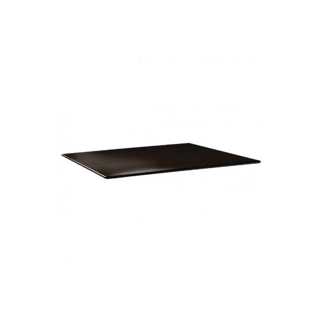 Topalit Plateau de table wengé rectangulaire 120 x 80 cm Wengé 1200 mm