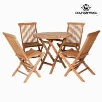 Salon de jardin avec table à manger avec chaises - Une touche déco moderne  et tendance table ronde et de 4 chaises