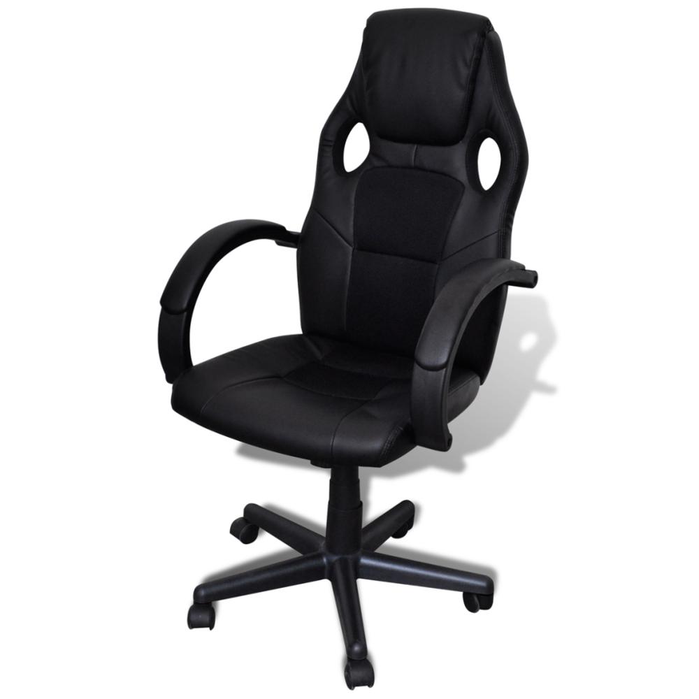 Vidaxl si ge fauteuil de bureau professionnel noir pas for Siege de bureau professionnel