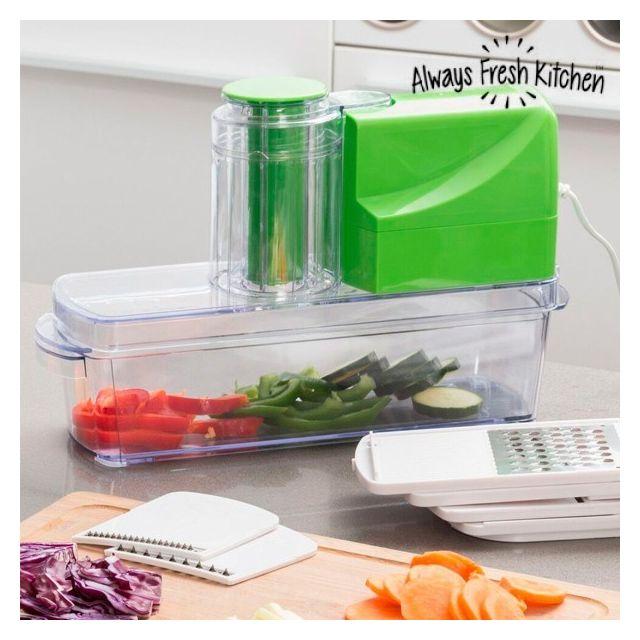 Totalcadeau Mandoline Électrique 8 en 1 - Râper, découper, tailler les légumes, fruits et fromages