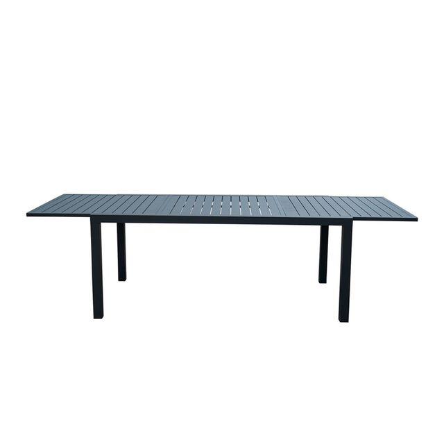 Alinéa - Dallas Table de jardin extensible noire en ...