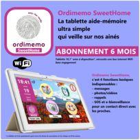 """Ordimemo - Tablette Acer 2 Go / 32 Go, écran Ips 10,1"""" 1280x800 WiFi, mise à disposition incluant SweetHome avec 6 mois d'abonnement de service hors connexion internet"""
