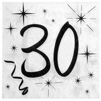 1001DECOTABLE - 20 Serviettes anniversaire 30ans
