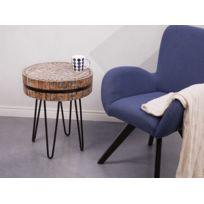 BELIANI - Table basse avec plateau en forme de palet en bois - Taku