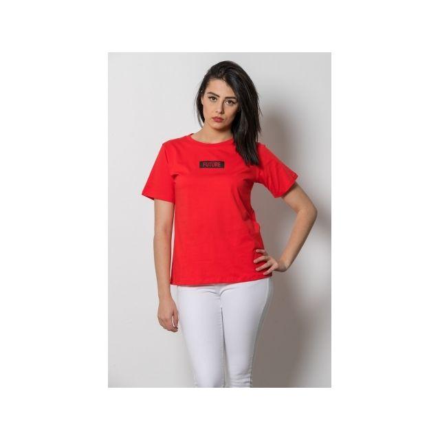 cb62cdf5d8ab3 Princesse Boutique - T shirt Rouge message Future Rose - Taille ...