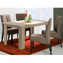 Marque Generique - Table à manger Berylla - 6 couverts - Coloris Chêne & Blanc