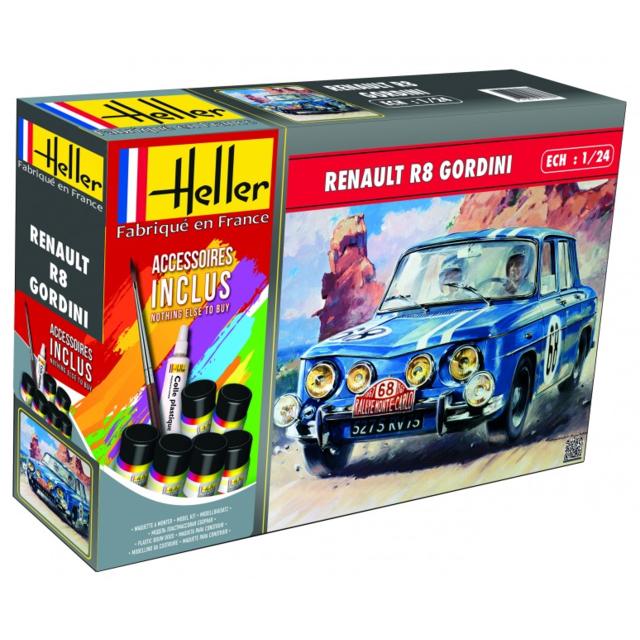 Heller Renault R8 Gordini 1/24 avec peintures et colles