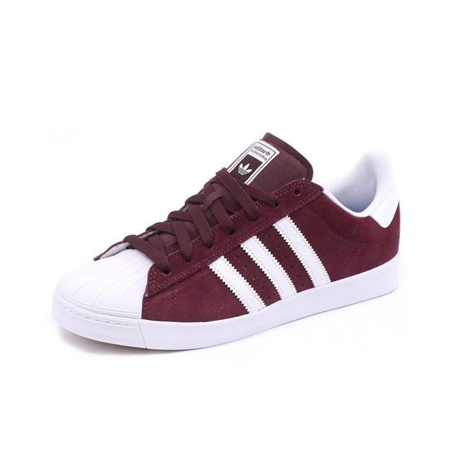 Adidas - Chaussures Superstar Vulc Adv Rouge