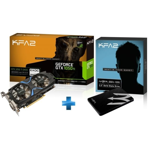 KFA2 - GTX1050TI-EXOC-4GB + -SSD-Gamer-L-120GB- TLC-S11