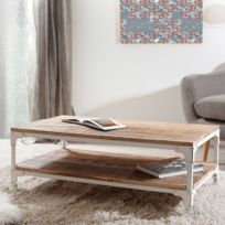 - Table basse industrielle double plateau Ulysse