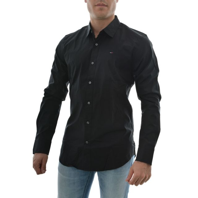31d6f14dcbaf pas chemise Hilfiger Xs noir ls original stretch shirt Tommy OP1wqSHxx