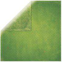 Bobunny - Papier scrapbooking Vintage vert gazon 30,5cm