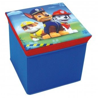paw patrol tabouret de rangement pat patrouille bleu. Black Bedroom Furniture Sets. Home Design Ideas