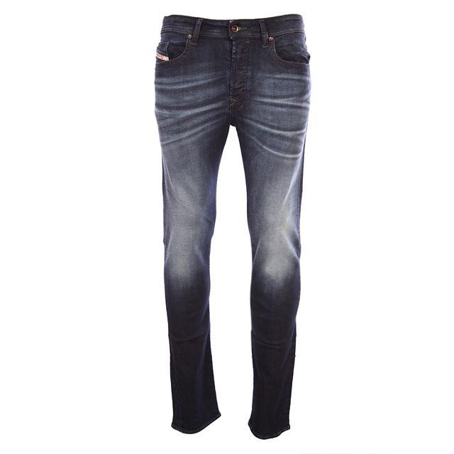 diesel homme jeans coupe droite buster 0853v bleu. Black Bedroom Furniture Sets. Home Design Ideas