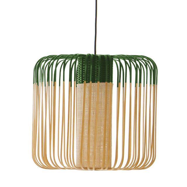 Forestier - Bamboo - Suspension d'extérieur Bambou/Vert H40cm - Luminaire d'extérieur designé par Arik Levy