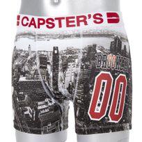Capster'S Official - Boxer Homme Microfibre Bro Gris
