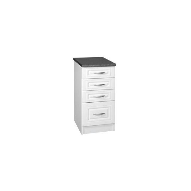Meublesline meuble de cuisine bas 40 cm 4 tiroirs dina - Meuble bas cuisine 30 cm largeur ...