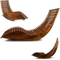 Destockoutils - Bain de soleil design vague bois