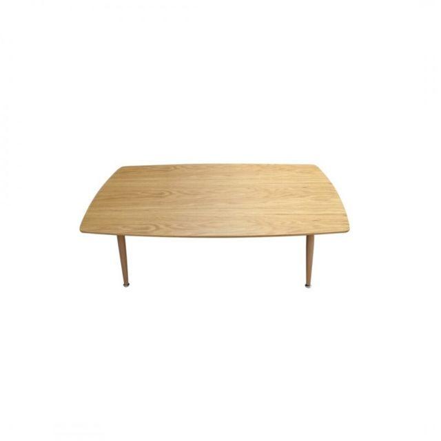 Zons Table basse entièrement et bois rectangulaire