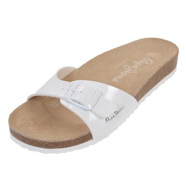 Pepe Jeans - Claquettes mules Oban blanc lady Blanc 21208 41
