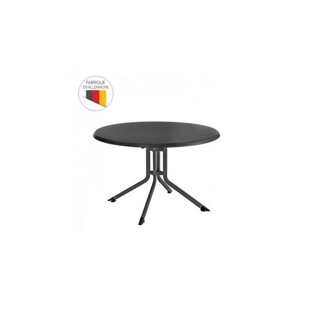 Kettler - Table de jardin pliante Advantage Ø 100 cm en aluminium ...