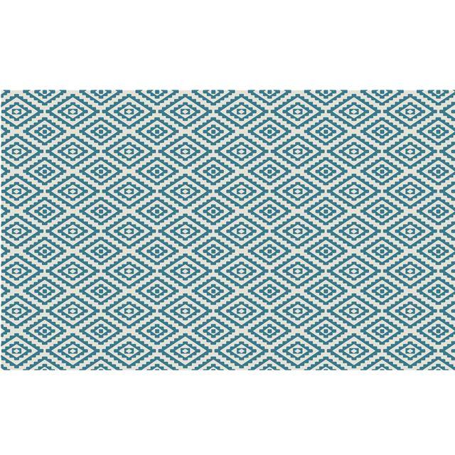 stof tapis d ext rieur beige et bleu en polypropyl ne. Black Bedroom Furniture Sets. Home Design Ideas