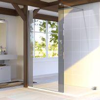 Creazur - Paroi de douche fixe 8 mm Baya - 100 cm avec miroir