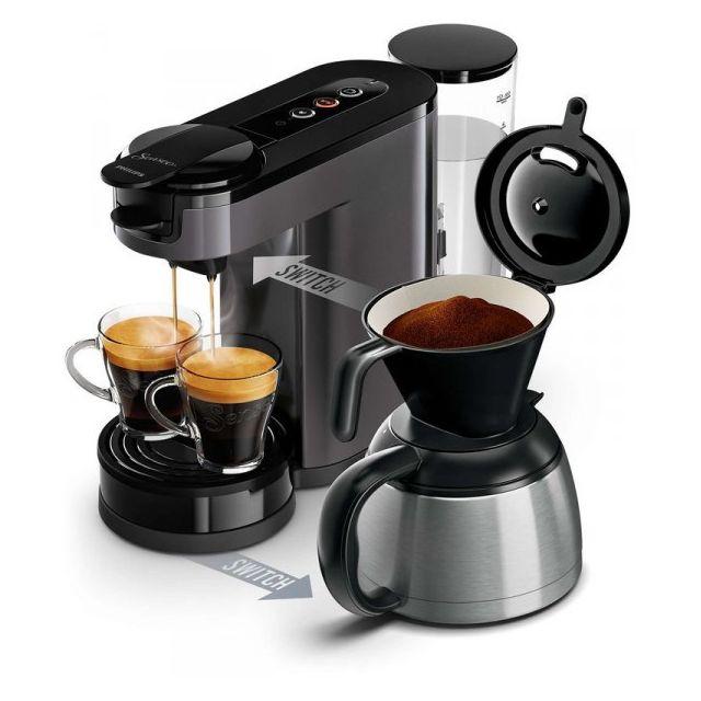 PHILIPS SENSEO Switch Machine à café à dosettes et filtre grise HD6591/21